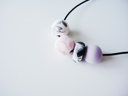 Marble Clay Mix Necklace