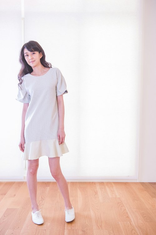 Lombard Pleated Reglan Dress