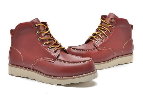 Japanese-style boots red leather OUTDOOR (date of shipment)