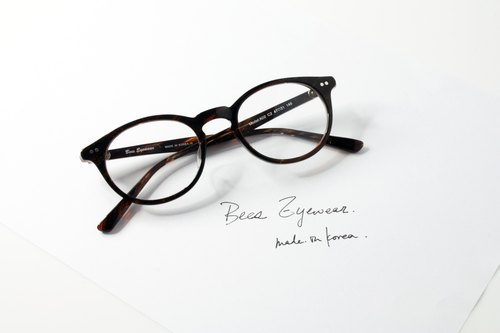 韓國手造 梨型板材幼細鏡框 Handmade in Korea Boston Shape eyeglasses frame eyewear A02C2