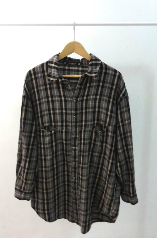 Wide Plaid cotton shirt the cool vintage dress