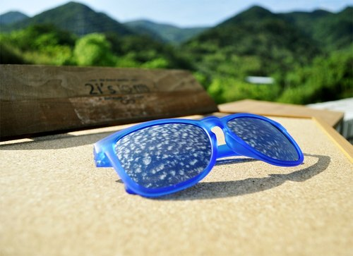 2is│Ethan Sunglasses│Blue Frame│Silver Lens│UV400 protection