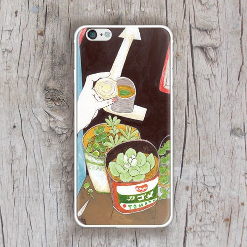 ▷ Umade ◀ Day Yao day 02 with succulents make a own balcony A [iPhone mobile phone shell / Accessories - (i6, i6s, i6plus, i6splus, i6 +) - interchangeable backplate - metal frame bunk slim glossy hard TPU shell - Gifts - boys and girls - artists - artists