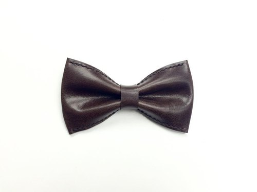 Chocolate color suede bow tie Bowtie