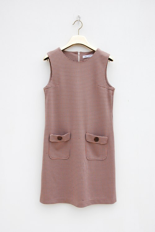 Vintage thick material sleeveless dress
