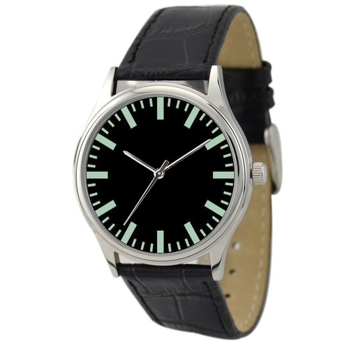 Simple Watch (black face green thick stripes)