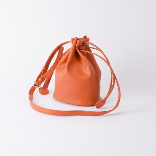 Bundle of candy Bucket small bucket bag shoulder-back dual-use Tangerine / Emma orange