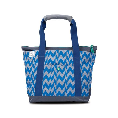 Hellolulu Finn- all-weather shopping bag (small) - (LittleStudio- blue feather reviews)
