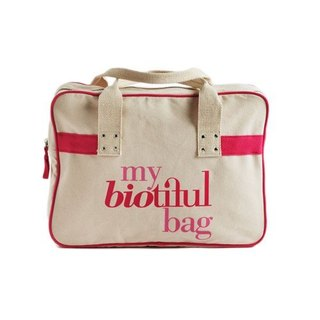 法國my biotiful bag有機棉Boston Bag-Pink