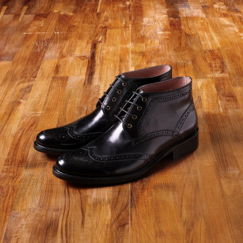 US-‧ Vanger elegant gentleman demeanor carved black derby boots ║Va148 England