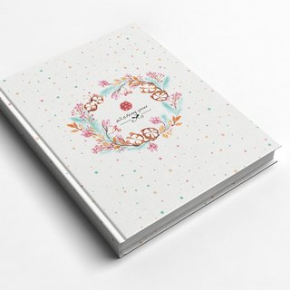 ☆ ° Rococo Strawberries WELKIN Handicraft Handbook / Notebook / Handbook / Diary - Cotton Star Sugar