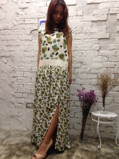 KZima green flowers dress