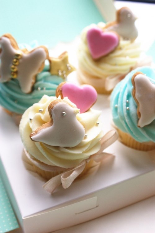 Cute bird butterfly cupcakes gift (4 in) in Taipei and seeking only commodity customers