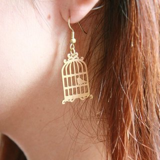 Antique Style Birdcage - Hand Craft - Earrings