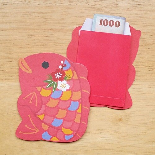 Japan amifa mini red envelopes [snapper (34509) 2016] the first month