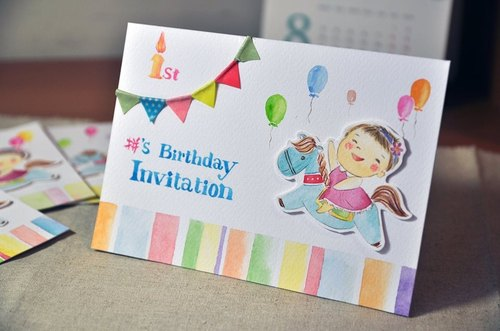 Custom hand-painted watercolor handmade cards