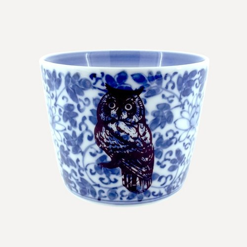 Amabro wind porcelain cup · Owl