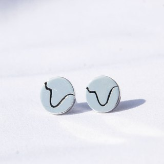 Natural series -Mountain-handmade Silver earrings