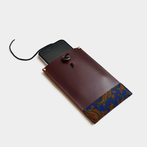 【Modified worm lover's phone book】 leather phone bag brown leather can be put mobile phone, IPHONE6, 6s, 7 custom lettering as a gift