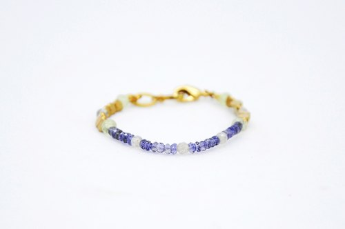 ✶TSEYA✶ glass box - cordierite Bracelet (023)