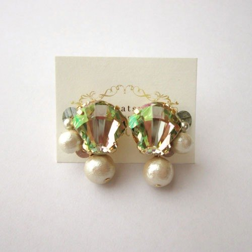Swarovski Earrings Shell (Green)
