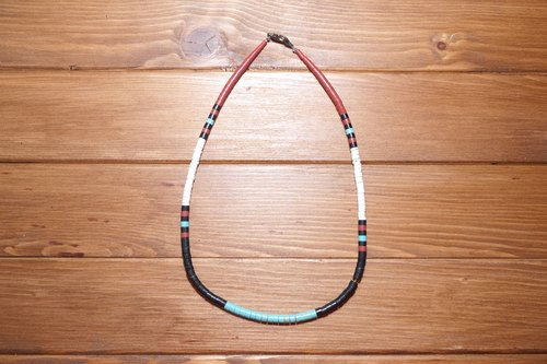 Santo Domingo American hand-beaded necklace, ethnic style, Indian style ((((Specials))))