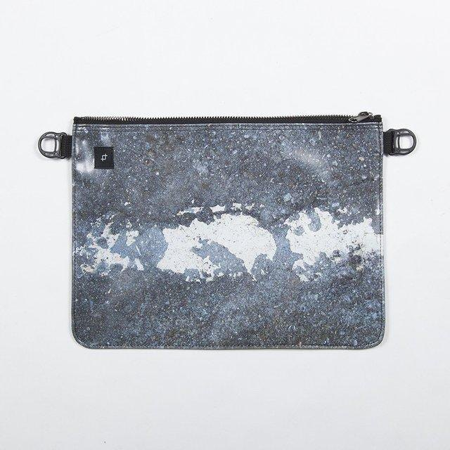 【lightweight! 140 g】 Asphalt white line shoulder bag