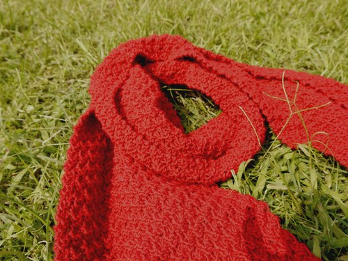 Mama 100% hand made cap - red / Osmanthus Junction / pure wool / Scarf / - New Year / gifts / Valentine's Day