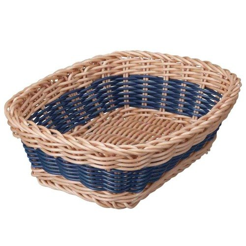 CB series washable Latin square storage basket rattan color - blue (of 3 colors)
