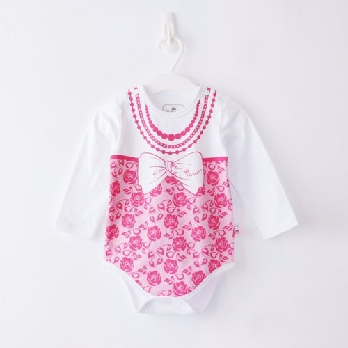 PUREST baby collection small lady long-sleeved lace necklace female baby coveralls package fart clothing exclusive style design