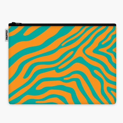 SpaceSuit - Document Pouch - Summer Zebra: Orange