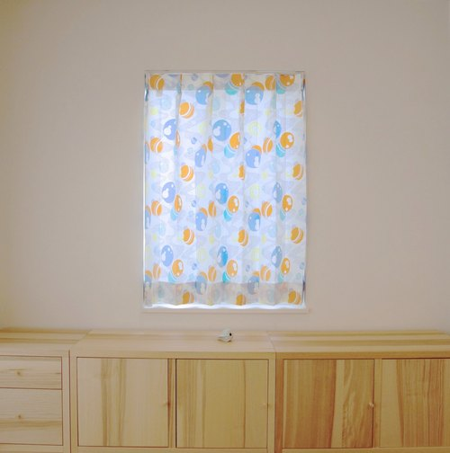 """MoRi MoRi"" Custom made curtains [ ""Mizutama"": Orenge & Yellow ] W 191cm-285cm / L 211cm-280cm"