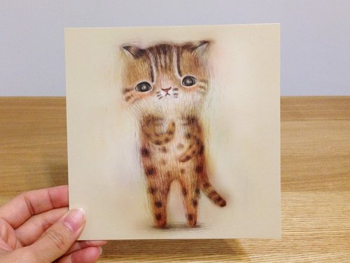 furryfurry animal thick card / postcard [tigers]