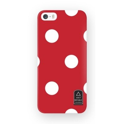 Girl home :: Juicy Republic x iphone 5 / 5s phone shell - red dots
