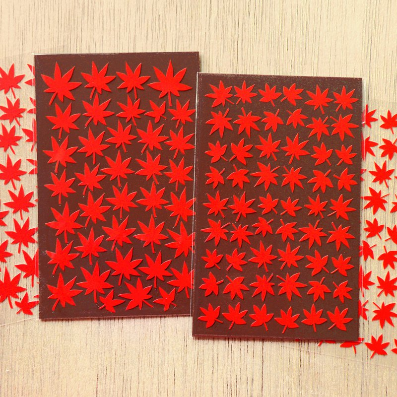 Autumn Maple Leaf Stickers (2 Pieces Set)