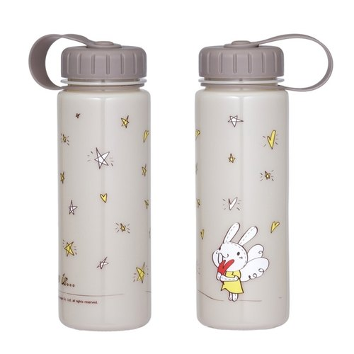 """Foufou"" 2014 carry-cold water bottles - Love sky heart Love Stars (Berry color / tea color)"