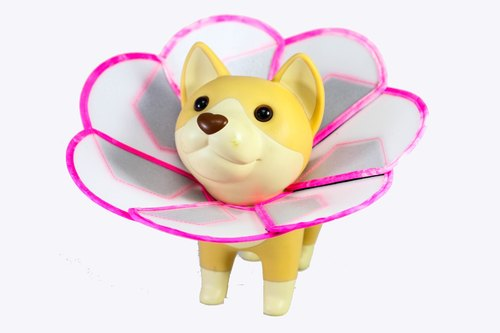 Petals Flowers pet anti-licking medical headgear [board] (Size S)**Taiwan's new patented design**