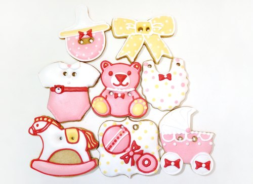 Sweet baby close saliva frosting cookies (little girls section) by anPastry