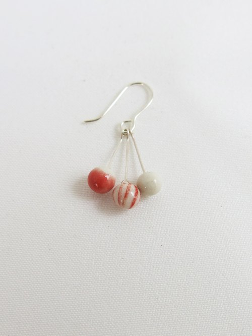 Christmas balls ♧ ceramic earrings