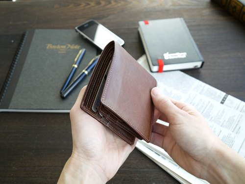 革職人 LEATHER FACTORY【Clever II Coin / Bifold Wallet with Coin Packet】Made in Japan