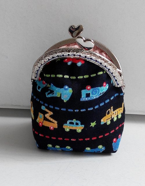 pinpincandy Blue lovely pattern purse mouth gold package