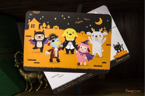 Postcard limited period [Poca] 2013 Halloween: Simo ghost town fake fake blame