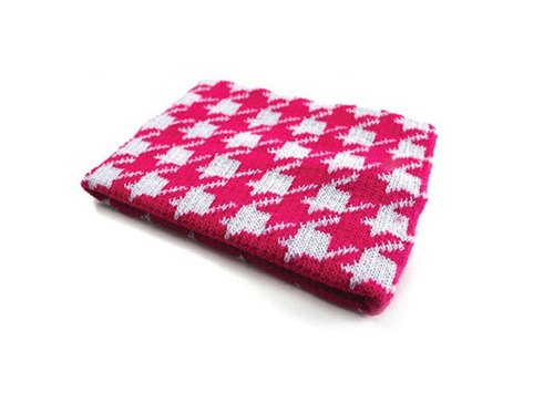 Girls warm knit multipurpose headband, hair bands, hair rings, hair ornaments, cervical collar, scarf - Houndstooth series
