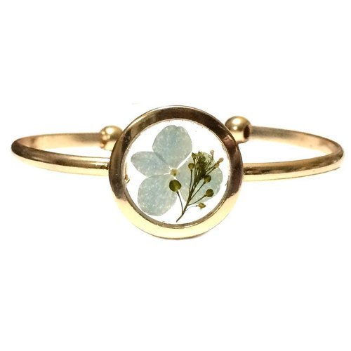 REVERIE JEWELLERY - Golden Frame Bangle (pressedflower)