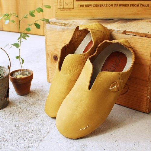 [Pre-Order] Nippon D'knot soft vegetable-tanned leather sandals V port