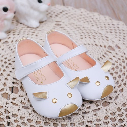 AliyBonnie playful animal leather shoes Neri Baby Shoes - White Sheep 14