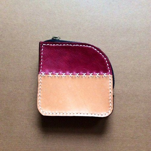 Color zipper purse small hill