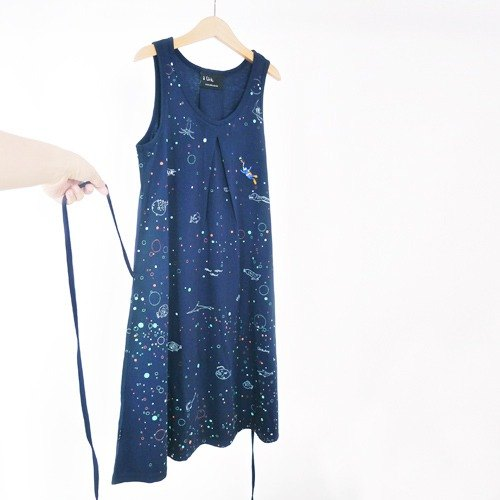 : Urb [divers] F / vest skirt dress / blue (can take sandals).