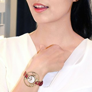 "◆ rose gold plum elegant watch passion red - ""Ingenuity heart set"""