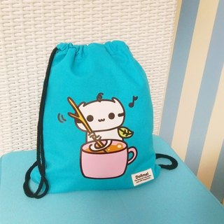 Dollmei backpack _ _ After stirring happy cat cute beam port Backpack (blue / black)